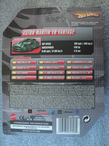 Aston Martin Rear Card