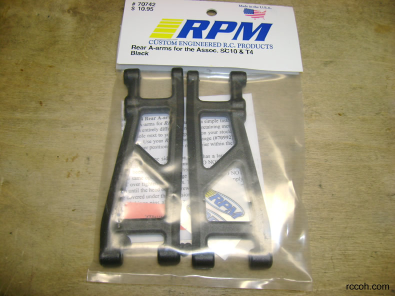 RPM Rear Arms for SC10