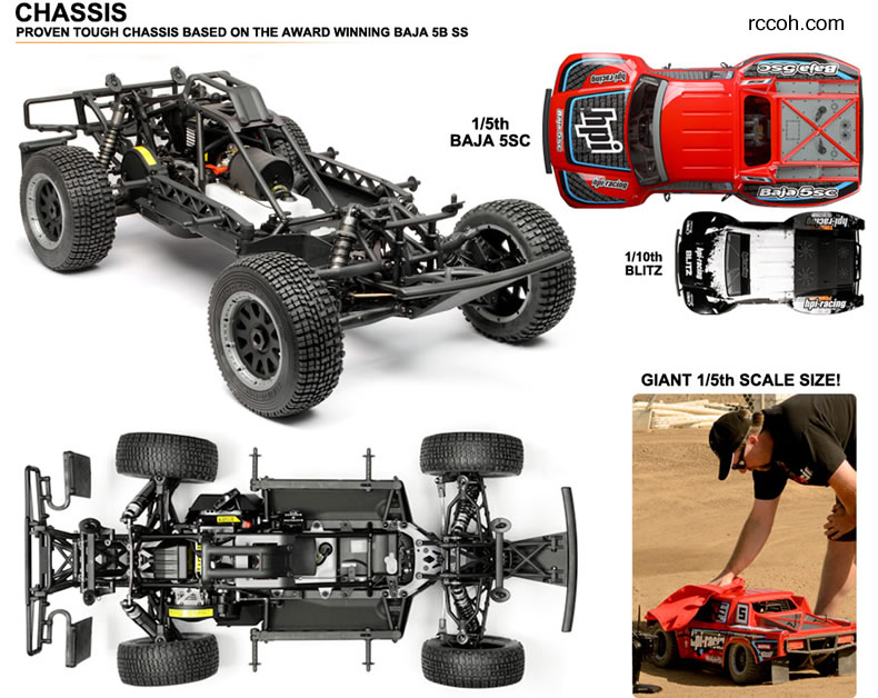 Baja 1:5 scale short-course