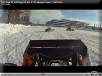 Snow Bashing 5T Video On Board